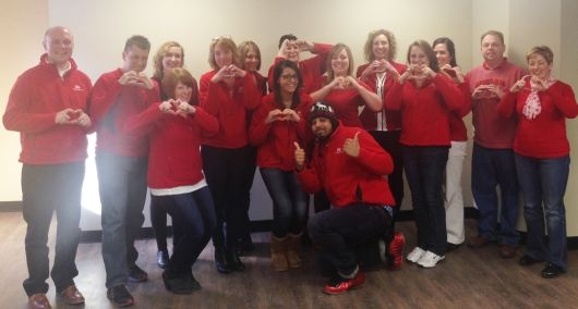 Crisafulli Staff Supporting Go Red For Women Day